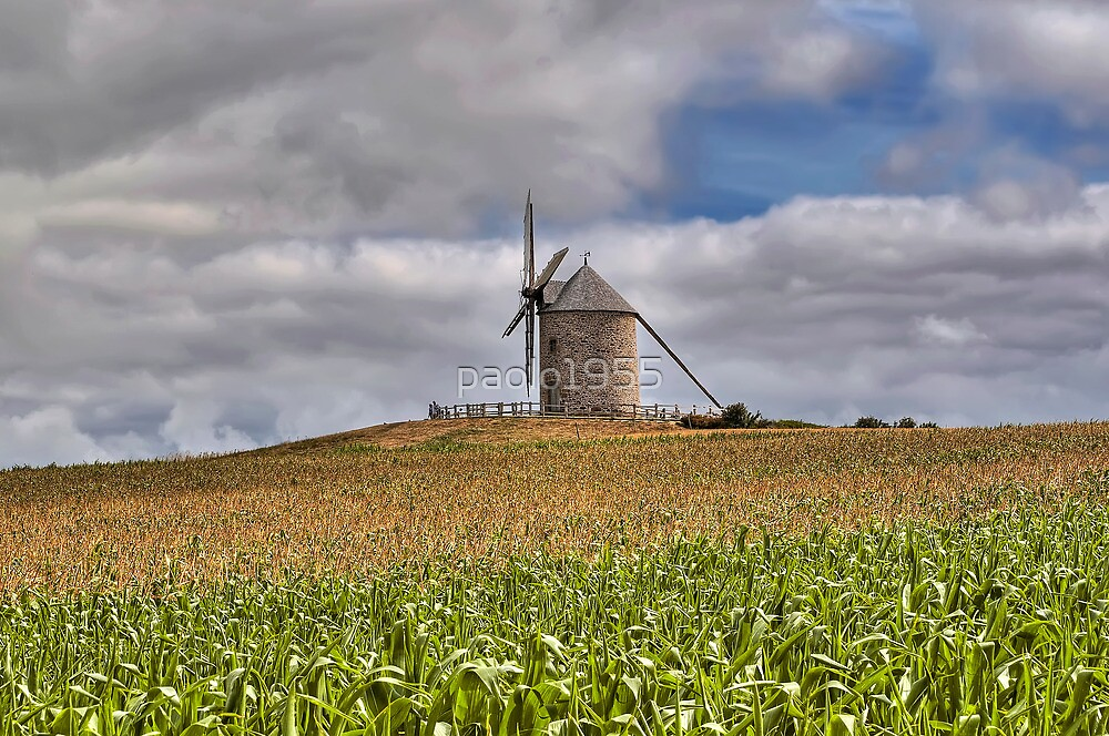 Le Moulin de Moidrey - Windmill of Moidrey by paolo1955