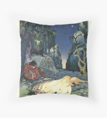 Old French Fairy Tales: The Night in the Forest Throw Pillow