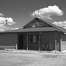 Route 66 - Old Log Cabin by Frank Romeo