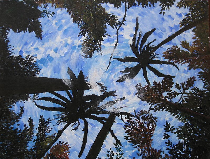 rainforest painting by cathyjacobs
