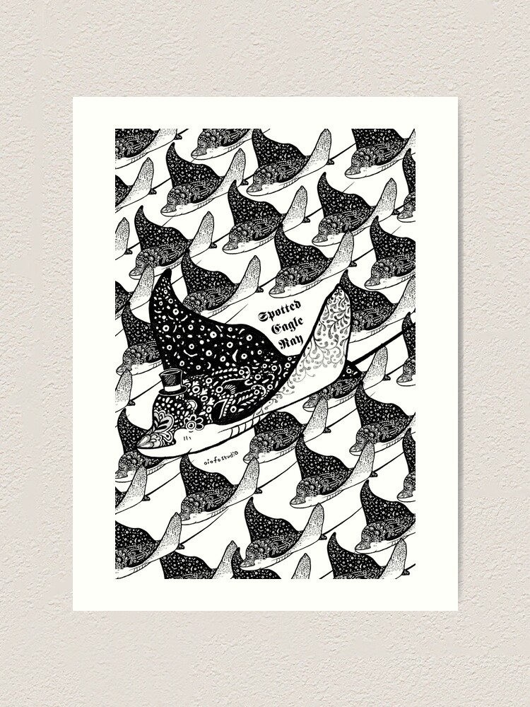 Alternate view of Spotted Eagle Ray I Art Print