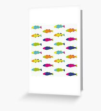 Fishes in White Greeting Card