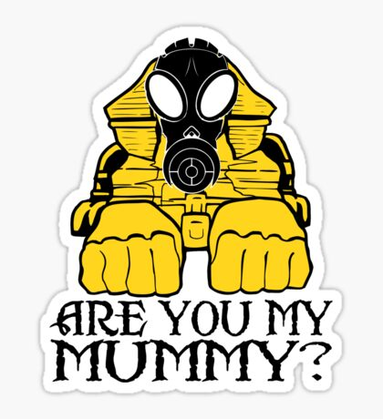 Dr. Who sphinx are you my mummy? Sticker