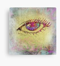 Graffiti Doodle Eye Canvas Print