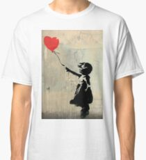Banksy Red Heart Balloon Classic T-Shirt