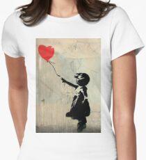 Banksy Red Heart Ballon Tailliertes T-Shirt