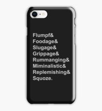 Karl Pilkington Vocabulary Case iPhone Case/Skin
