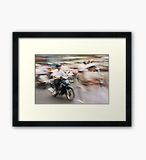 Ho Chi Minh motorbikes Framed Print