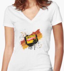 Graffiti Cartridge Women's Fitted V-Neck T-Shirt