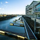 Cardiff Bay Pontoons by mlphoto