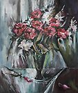 Still-Life with Red Flowers by Stefano Popovski