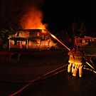 Fighting a Night Fire by Kent Nickell