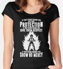 No mercy vegeta Women's Fitted Scoop T-Shirt