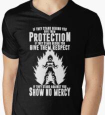 No mercy vegeta Men's V-Neck T-Shirt