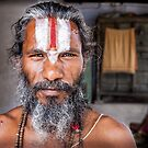 Sadhu Holy man Jaipur City the pink City Rajasthan India by Heather Buckley