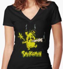 SMOKEMON Women's Fitted V-Neck T-Shirt