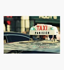 Taxi Parisien Photographic Print