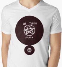Non Timebo Mala Mens V-Neck T-Shirt