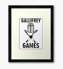 Gallifrey Games Framed Print
