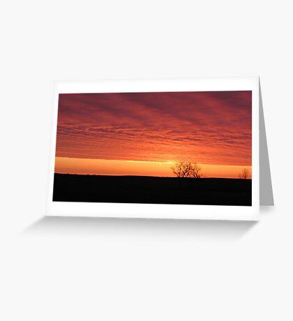 Blazing Plains Greeting Card