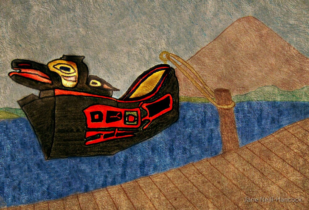 the Yeil Yeik (Raven Spirit) - Tlingit Dugout Canoe by Jane Neill-Hancock