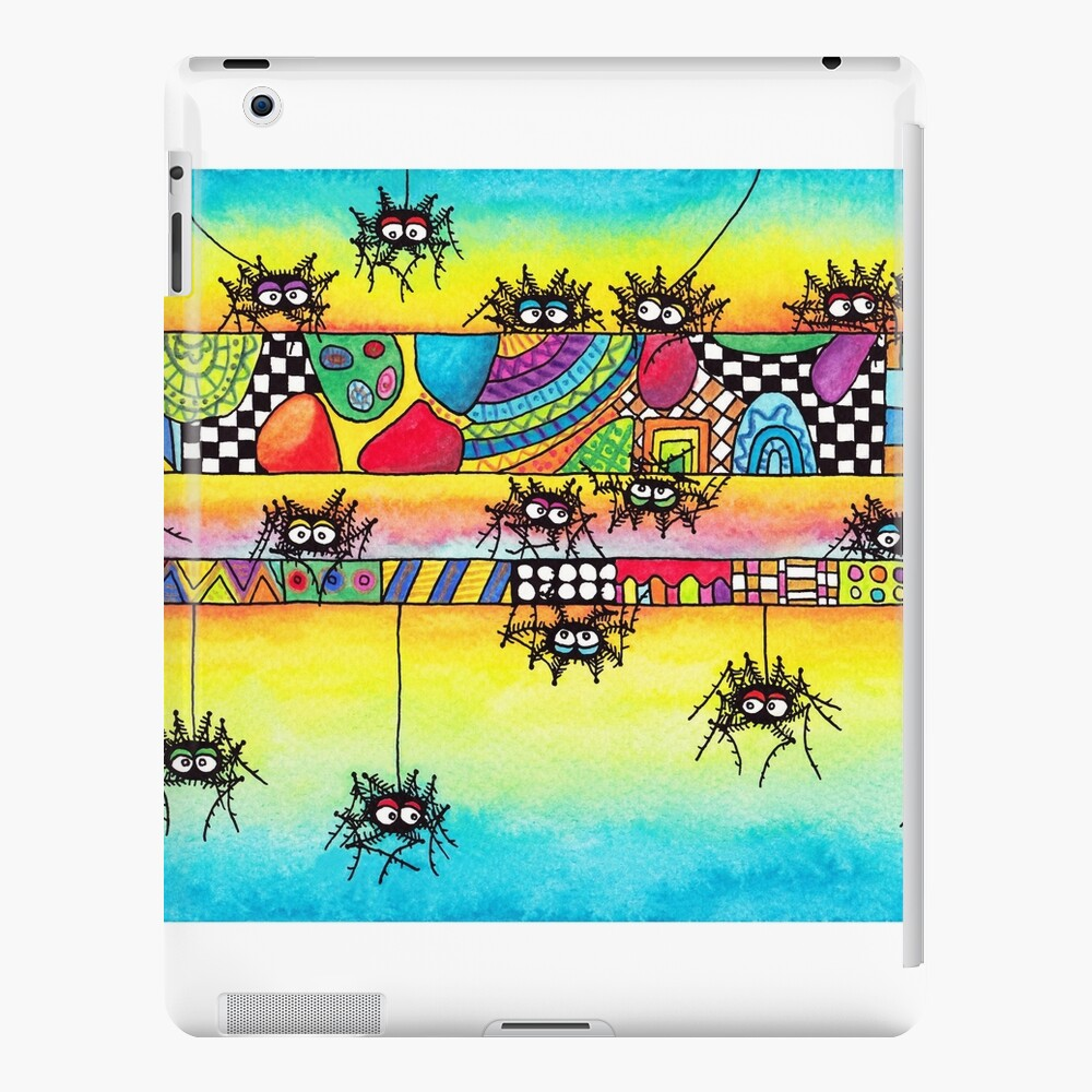 Spiders and Patterns Funda y vinilo para iPad