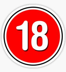 Rated 18 Sticker