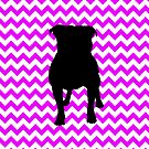 Perfectly Pink Chevron With Pug Silhouette by pjwuebker