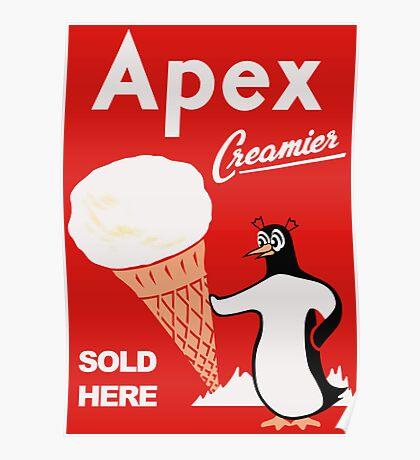 Apex Ice Cream Penguin Poster Poster