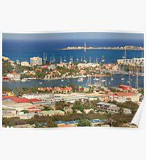 Simpson Bay Waterfront Vista, St. Maarten Poster