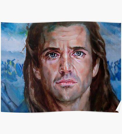 Mel Gibson in Brave heart Poster