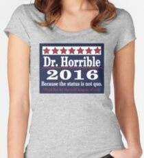 vote Dr. Horrible 2016 Women's Fitted Scoop T-Shirt