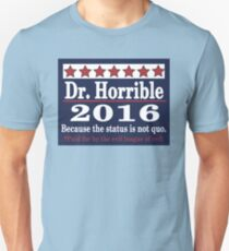 vote Dr. Horrible 2016 Unisex T-Shirt