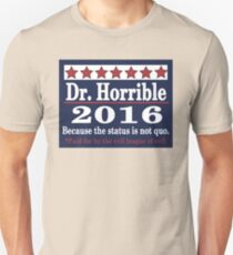 vote Dr. Horrible 2016 T-Shirt