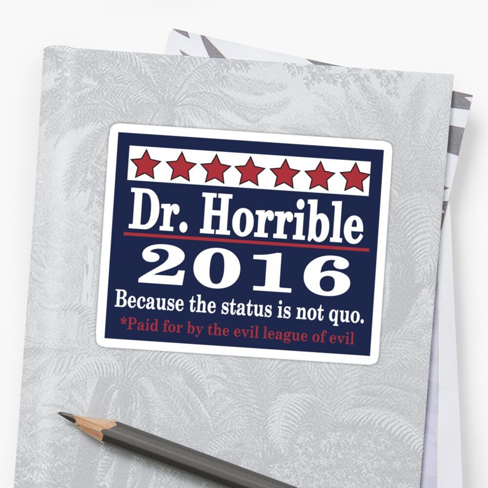 vote Dr. Horrible 2016 by Tardis53