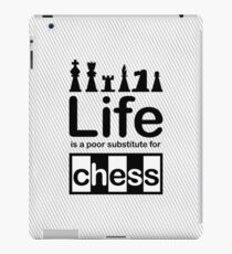 Chess v Life - White iPad Case/Skin