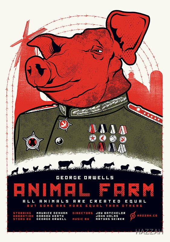 u0026quot;Animal Farm Movie Posteru0026quot; Posters by HAZZAH : Redbubble