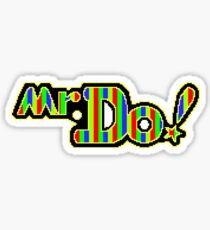 Mr. Do Logo - Full Colour. Perfected Pixellation! Sticker