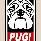 Obey the Pug! by bungeecow
