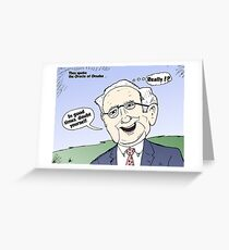 Warren Buffet Cartoon Doubt Yourself Greeting Card