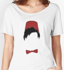 Eleventh doctor fez and bowtie Women's Relaxed Fit T-Shirt