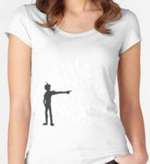 ding dong, you are wrong Women's Fitted Scoop T-Shirt