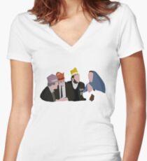 Bottom Christmas design Women's Fitted V-Neck T-Shirt
