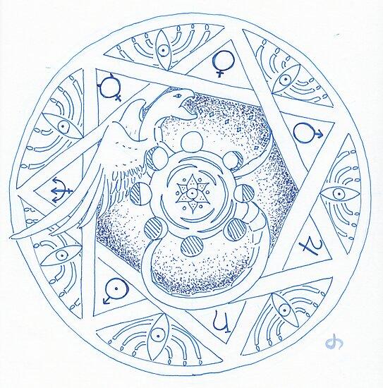 Winged Serpent Mandala by Daniel ML