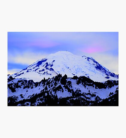 Mt Rainier from Chinook Photographic Print