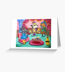 Snoopy the Pimp Greeting Card