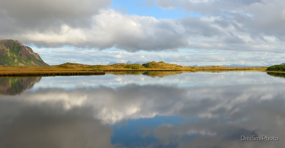 Clouds have dissolved in the water by DmiSmiPhoto