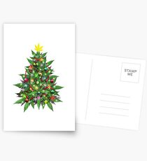 Marijuana Christmas Tree Postcards