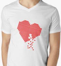 Heart of Hearts Mens V-Neck T-Shirt