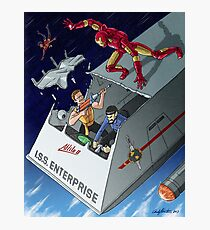 Iron Man vs Mirror Trek Photographic Print
